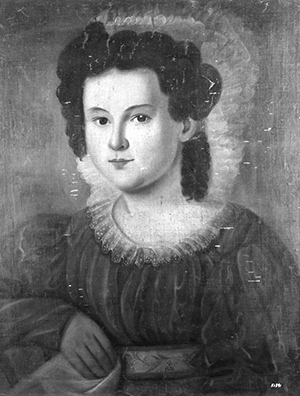 "A portrait, circa 1828, by an unknown artist, of Mary Frances Whitaker Pittman, wife of Thomas Laurence Baker Gregory. Anonymous, American School, North Carolina ""Mrs. Thomas Laurence Baker Gregory (Frances Whitaker Pitman 1811-1876).""  Circa 1828.  Library NEH Negatives 3. The Frick Collection."