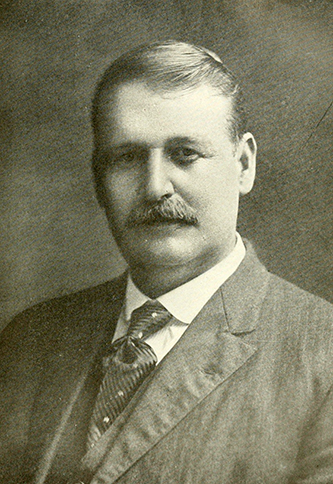 A photograph of William Cicero Hammer published in 1919. Image from the Internet Archive.
