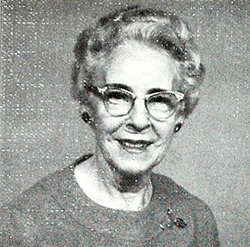 """Mrs. Ellwood S. Harrar."" Photograph. First Presbyterian Church, Durham, North Carolina. [Durham, N.C. : First Presbyterian Church]. 1977. 19."