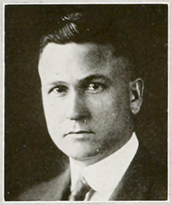 A photograph of John William Harrelson from the 1921 North Carolina State University yearbook. Image from North Carolina State University.