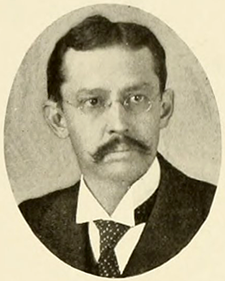 A photograph of professor Thomas Perrin Harrison from the 1909 North Carolina State University yearbook. Image from North Carolina State University.