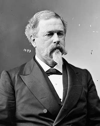 A photograph of Joseph Roswell Hawley taken between 1865 and 1880. Image from the Library of Congress.