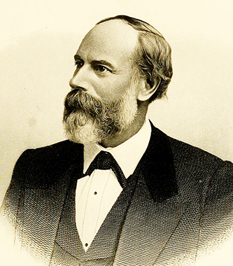 An 1880 engraving of Jonathan McGee Heck. Image from Archive.org.