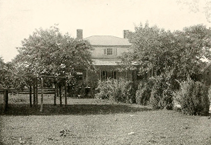 The house of Richard Henderson at Williamsborough, N.C. circa 1901. Image from Archive.org.