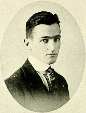 Photograph of Charles Holmes Herty, Jr. from his 1918 college yearbook. Image from the North Carolina Collection, University of North Carolina at Chapel Hill.