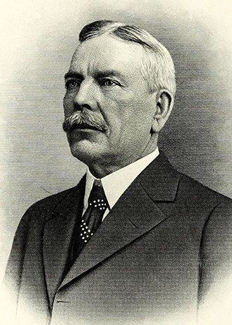 An engraving of Thurston Titus Hicks at age 59, published in 1917. Image from the Internet Archive / N.C. Goverment & Heritage Library.