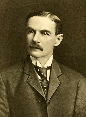 An engraving of college president Daniel Harvey Hill, Junior, from the 1906 North Carolina College of Agriculture and Mechanic Arts yearbook.
