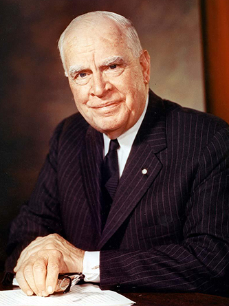 Color photograph of Luther Hartwell Hodges, 1961. Image from the North Carolina Museum of History.