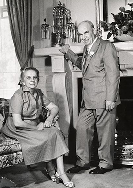 Governor Luther Hodges and his wife Martha Blakeney Hodges in the Governor's Mansion. Image from the North Carolina Museum of History.