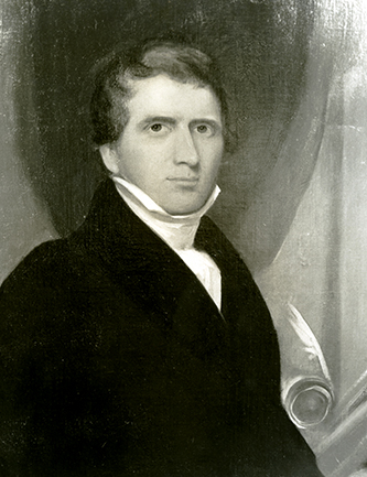 A photograph of a portrait of Gavin Hogg. Image courtesy the Southern Historical Collection, Wilson Library, University of North Carolina at Chapel Hill.