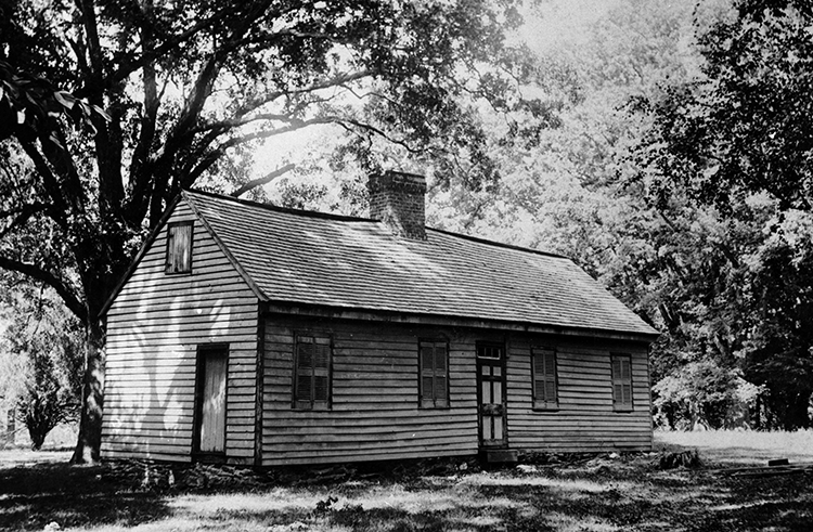 Photograph of the James Hogg House, circa 1930s-1971. Image courtesy of the North Carolina Collection, University of North Carolina at Chapel Hill Library.