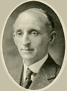 A photograph of Dr. Michael Hoke published in the 1922 University of North Carolina yearbook. Image from the University of North Carolina at Chapel Hill.