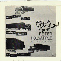 The cover of Holsapple's 1978 EP, autographed. Image from Flickr user Klaus Hiltscher.