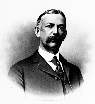 An engraving of Walter Lawrence Holt published in 1905. Image from the Internet Archive.