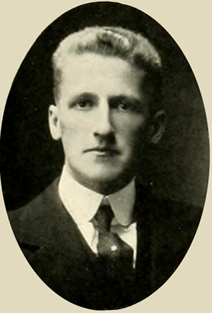 """Herschel Vespasian Johnson ... Charlotte, N.C."" Photograph. The Yackety Yack vol. 16. Chapel Hill, N.C.: Dialectic and Philanthropic Literary Societies and the Fraternities of the University of North Carolina. 1916."