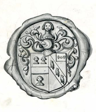 A print of the seal of Frederick Jones, 1910. Image from the North Carolina Museum of History.