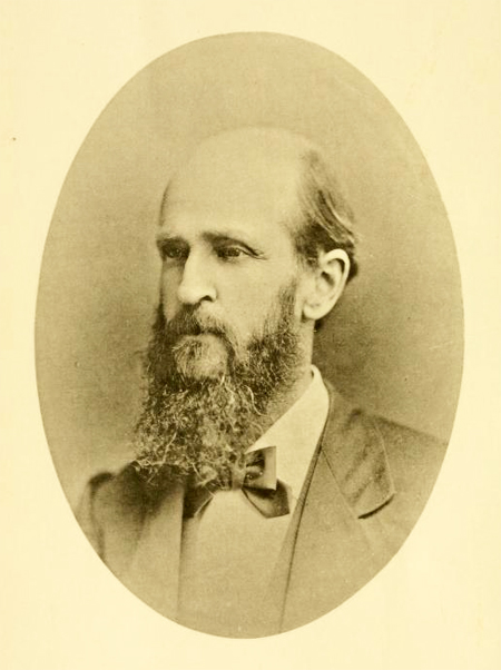 Photographic portrait of Washington Caruthers Kerr, from the <i>Journal of the Elisha Mitchell Scientific Society</i>, Vol. IV, July-December 1887.  Presented on Archive.org.
