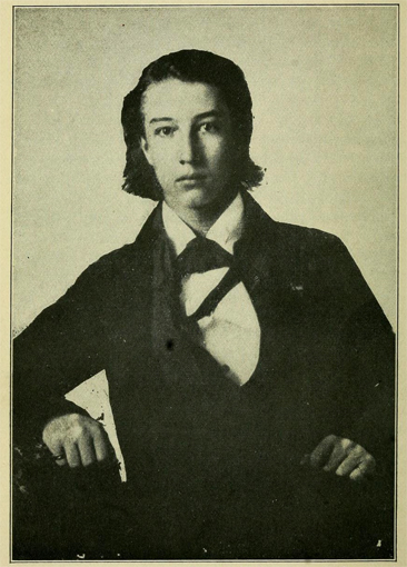 Portrait of Sidney Lanier, from Leonidas Warren Payne's <i>Southern Literary Readings</i>, p. 209, published 1913 by Rand McNally & Company, New York.  Presented on Archive.org.
