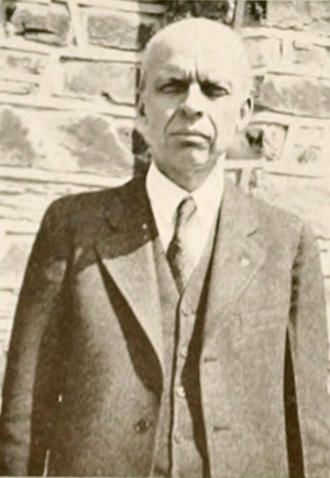 A photograph of professor William Thomas Laprade from the 1936 Duke University yearbook. Image from the Internet Archive.