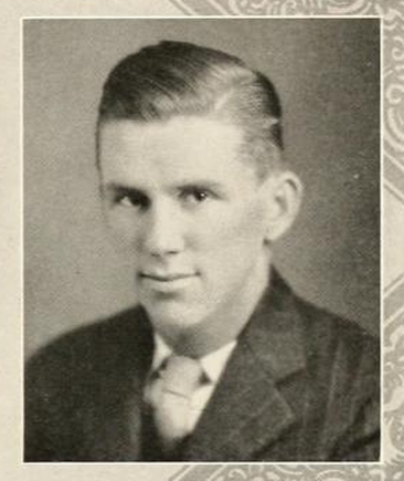 Senior portrait of John Davis Larkins, Jr., from the 1929 Wake Forest College (Wake Forest, North Carolina) yearbook <i>The Howler</i>, p. 55.