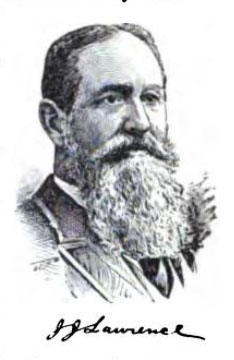 Engraved image of Joseph Joshua Lawrence, from J. T. White's <i>National Cyclopedia of American Biography</i>, Volume 12, p. 32, published 1904 by James T. White & Company, New York.  Presented on Archive.org.