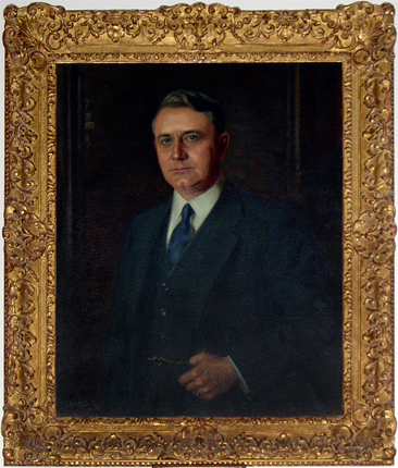 """Arthur Carl Lee,"" portrait, oil on canvas, by Douglas Chandor, 1931. From the Duke University Archives Art and Artifacts Collection. Presented on DukeSpace. Used under Creative Commons License CC BY-NC-ND."
