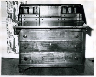 Photograph of a chest made by William Little, circa late 1700s.  Item H.1958.53.22, from the collections of the North Carolina Museum of History.  Used courtesy of the North Carolina Department of Cultural Resources.