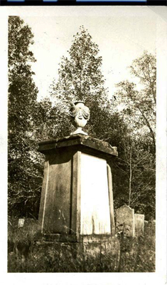 Photograph of Francis Locke's grave in Thyatira Churchyard, Rowan County, circa 1926.  From the collections of the North Carolina Museum of History.