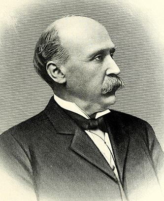 An engraving of Benjamin F. Long published in 1917. Image from the Internet Archive / N.C. Goverment & Heritage Library.