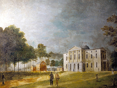 Jacob Marling's painting of the North Carolina Statehouse in Raleigh, 1818. Image from the North Carolina Digital Collections.