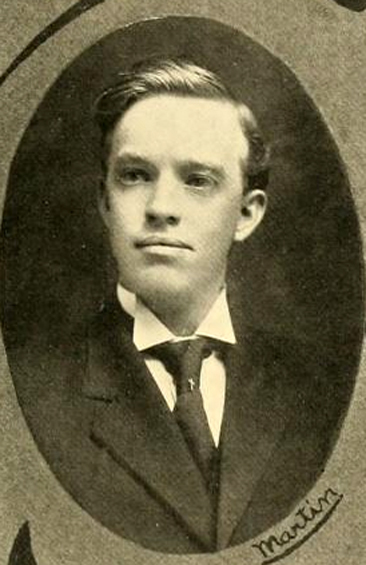 Portrait of J. S. Martin, from the Wake Forest College yearbook <i>The Howler</i>, p. 125, published 1909 by the Philomathesian and Euzelian Literary Societies of Wake Forest College, Wake Forest, North Carolina.  Presented on DigitalNC.