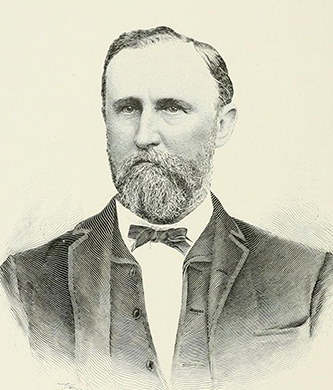 An engraving of Rufus Y. McAden published in 1892. Image from the Internet Archive.