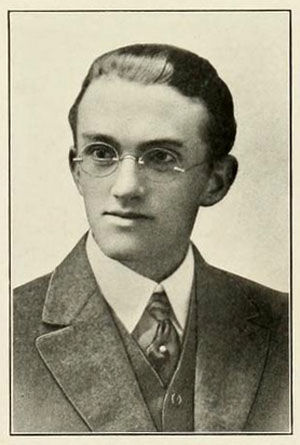 Senior portrait of Frederick Bays McCall.  From the University of North Carolina yearbook <i>The Yackety Yack</i>, Volume 15, p. 67, published 1915 by the Dialectic and Philanthropic Literary Societies and the Fraternities of the University of North Carolina at Chapel Hill.