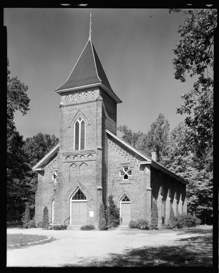 Photograph of Thyatira Church in Salisbury, NC.  McCorkle attended Thyatira Church as a child and returned there as a preacher in 1776, From the Carnegie Survey of the Architecture of the South, Library of Congress, Prints & Photographs Online Catalog.