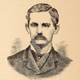 An engraving published in 1885 of Alfred Augustus McKethan's son, Alfred A. McKethan, Jr. Image from the Internet Archive.