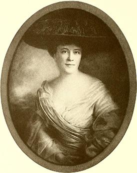 A portrait of Benjamin Franklin Mebane Jr.'s wife, Lily Connally Morehead, by Lloyd Bronson, 1911. Image from Archive.org.