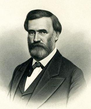 A 1908 engraving of Giles Mebane. Image from the North Carolina Museum of History.