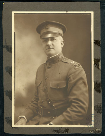 Photo of Colonel John Van Bokkelen Metts, 119th Infantry Regiment, 30th Division, c. 1919.  From the Van Bokkelen Metts Collection, State Archives of North Carolina.  Item used courtesy of the North Carolina Department of Cultural Resources.