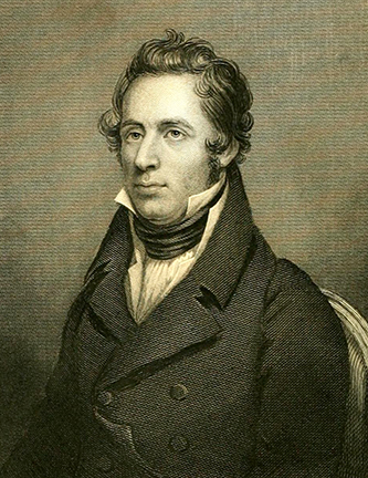 An engraving of Francois Andre Michaux published in 1865. Image from Archive.org.