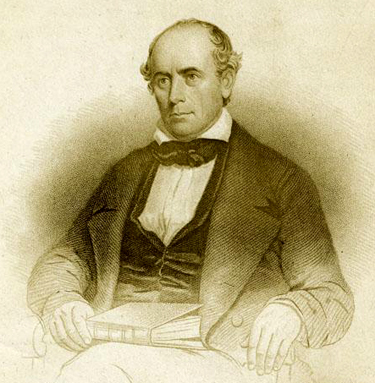 Engraving of Elisha Mitchell, 1858. Image from the North Carolina Museum of History.