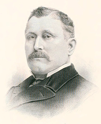 An engraving of Representative James Montraville Moody published in 1903. Image from Archive.org.