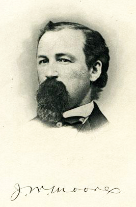 Lithographic print of John Wheeler Moore, circa 1890-1906. Image from the North Carolina Museum of History.