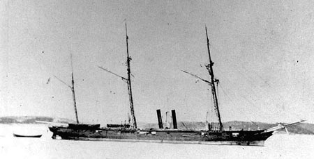 Photograph of the CSS Florida in Brest, France, circa August 1863 - February 1864. Image from the Naval Historical Center, United States Navy.
