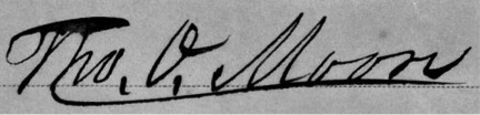 Signature of Thomas O. Moore, Governor of Louisiana, from a letter to the people of Louisiana, 1862. Portfolio 24, Folder 29b, Digital ID rbpe 0240290b, in Printed Ephemera Collection, at the Library of Congress.