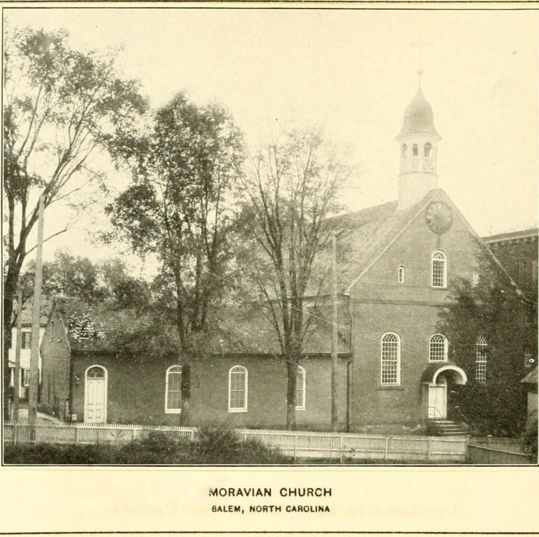 Moravian church in Salem, North Carolina.