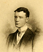 A photograph of John Motley Morehead, III from his 1891 college yearbook, The Hellenian. Image from the University of North Carolina at Chapel Hill.