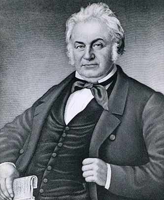Engraving of John Motley Morehead. Image from the North Carolina Museum of History.