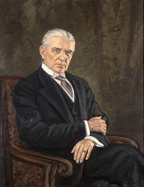 Portrait of Cameron Morrison by Boris B. Gordon, 1954. Image from the North Carolina Museum of History.