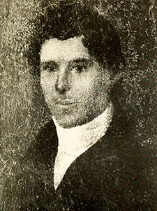A photograph of a portrait of Robert Hall Morrison, circa 1825. Image from Archive.org.