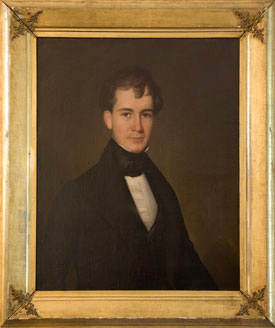 William Law Murfree, oil portrait by William Cooper, made circa mid-1830s.  From the Tennessee Portrait Project.  William Law Murfree was the son of William Hardy Murfree.